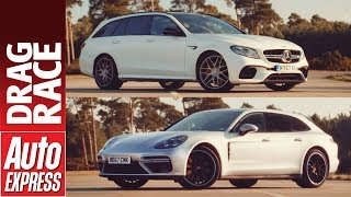 Mercedes-AMG E 63 S Estate vs Porsche Panamera Turbo Sport Turismo drag race