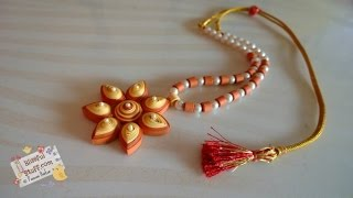 DIY - Quilled Paper Necklace, How to make paper quilled jewellery
