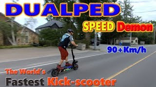 Dualped Speed Demon!! World's Fastest Electric Kick-Scooter