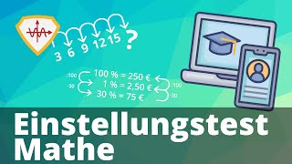 Einstellungstest Mathe (Zahlenreihe, Logik, Dreisatz und Zins)