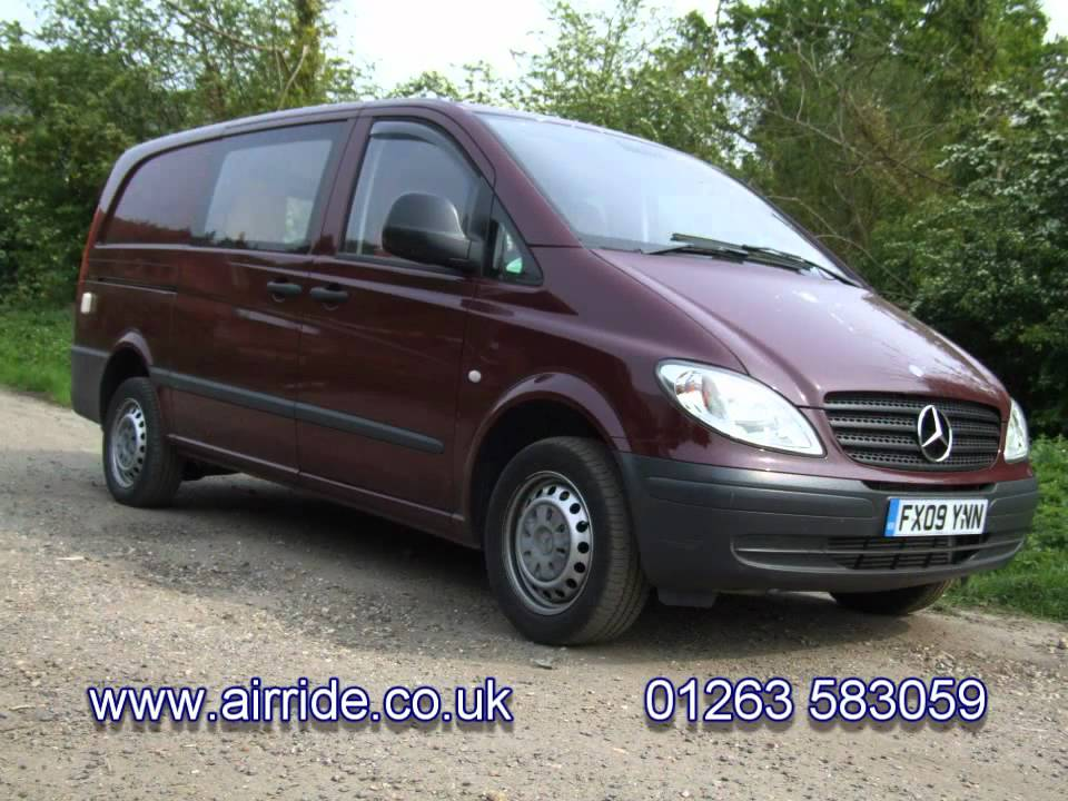 airride mercedes vito air suspension kit for w639 youtube. Black Bedroom Furniture Sets. Home Design Ideas