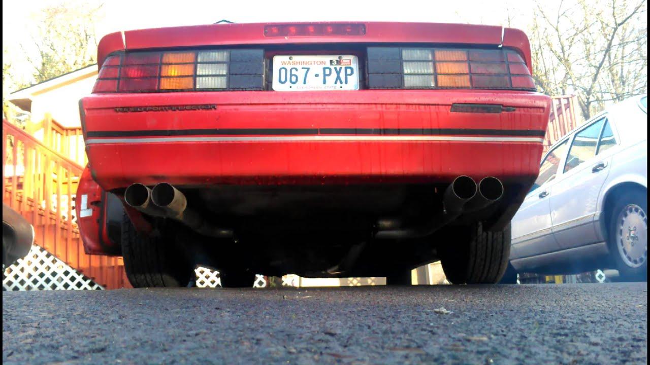 1989 Camaro Iroc-Z Hooker 3in Exhaust - YouTube