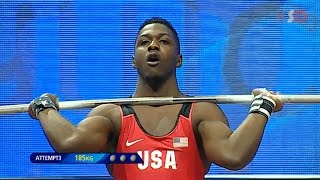 CJ Cummings(USA) broke the IWF YOUTH record 2017 | IWF YOUTH WORLD CHAMPIONSHIPS [Men 69KG Group A]