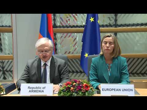 Press statements by Nalbandian and Mogherini on the occasion of signing Armenia-EU Agreement