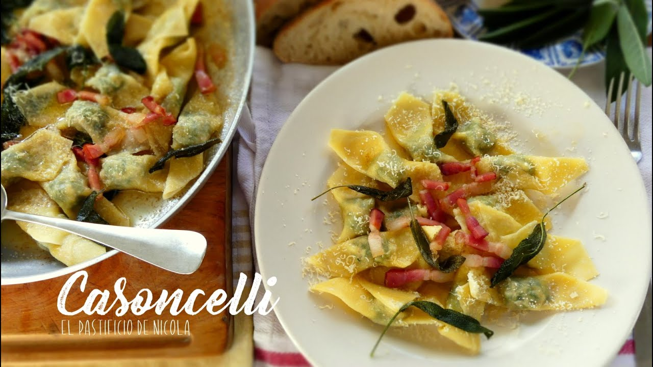 Casoncelli / Pastas Rellenas / Pork and Spinach Ravioli
