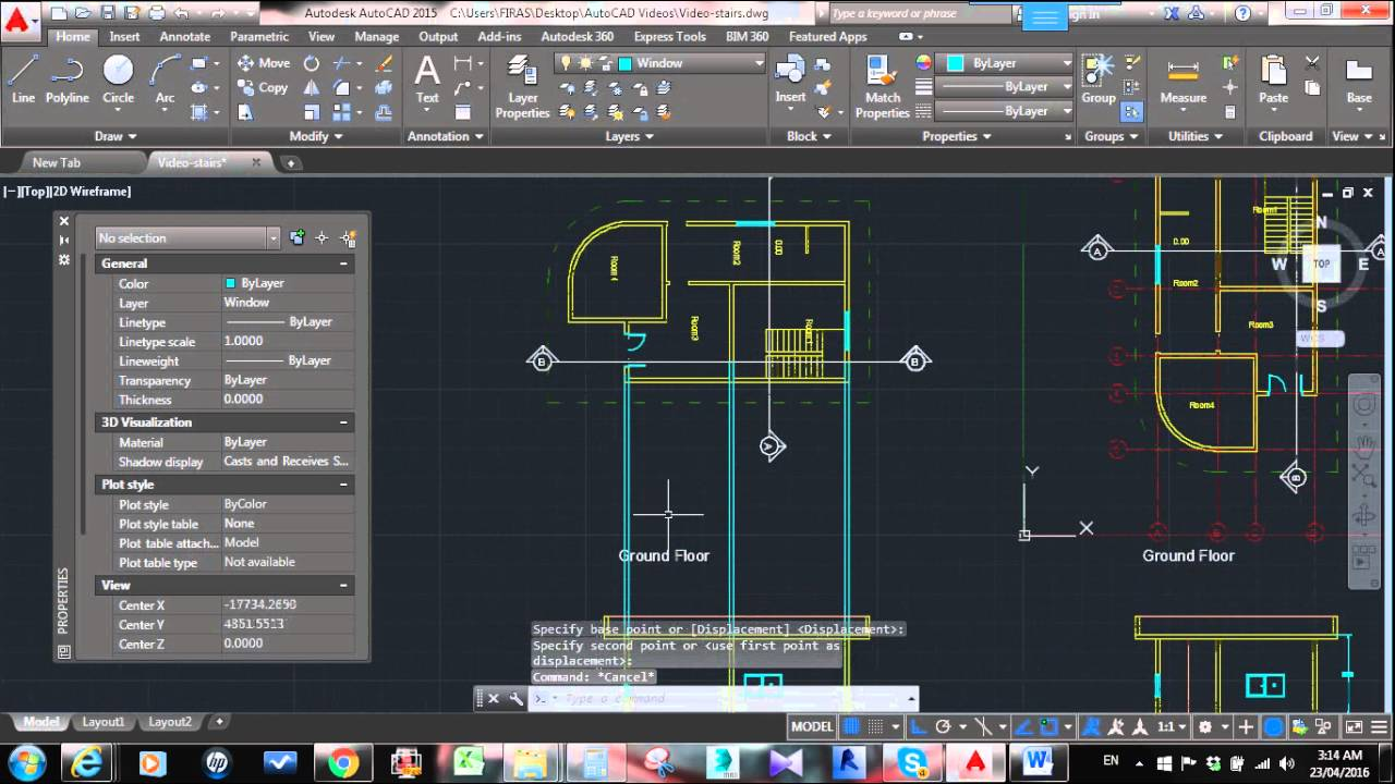 How to draw a Basic Stair Section in AutoCAD