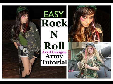 easy rock n roll avril lavigne army halloween tutorial youtube