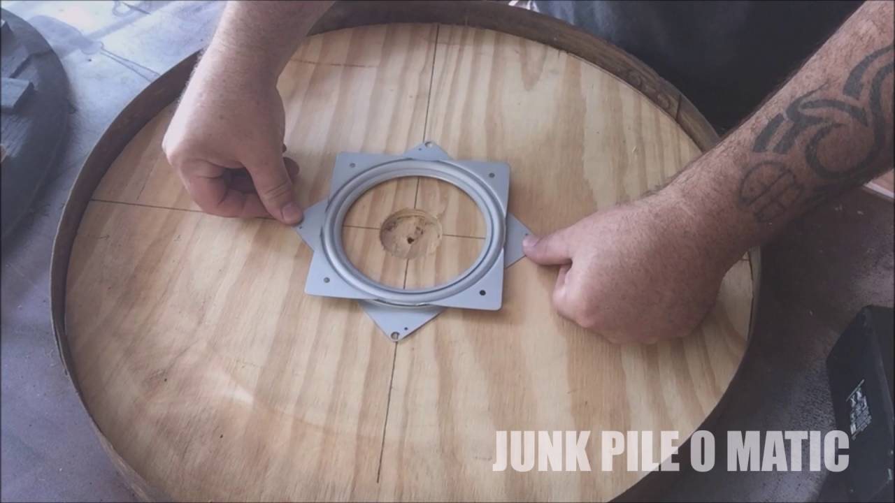 Jpom Whiskey Barrel Lazy Susan Build Rustic Youtube