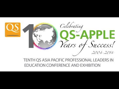 10th QS-APPLE - Afternoon Plenary (Day 2 – Wednesday, November 12, 2014) Live Streaming
