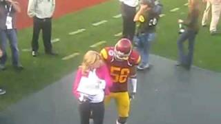 Rey Maualuga grinding on Hotty Erin Andrews