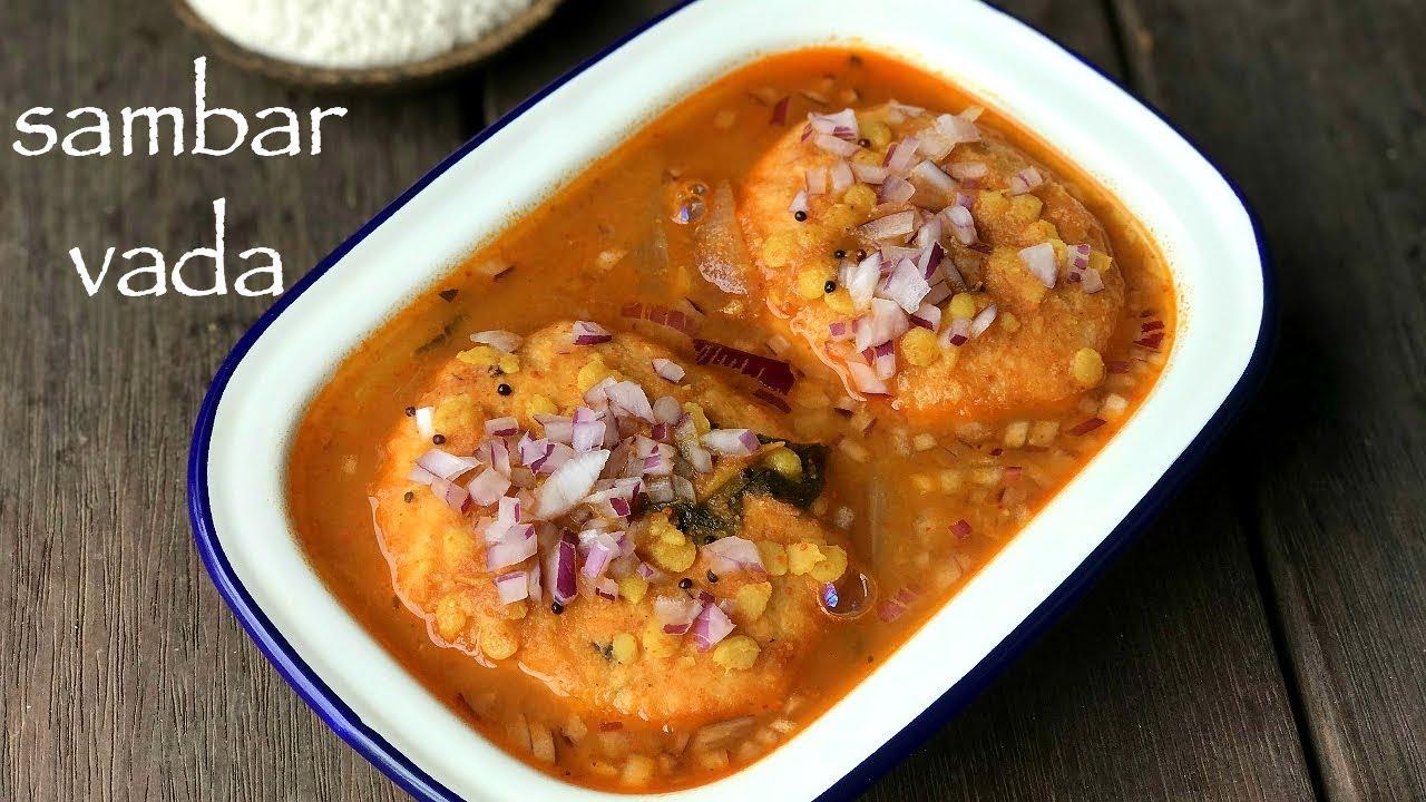 sambar vada recipe | how to make sambar vadai or vada ...
