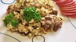 Готовим вкусный плов с диким рисом в мультиварке/рецепт рассыпчатого плова в мультиварке