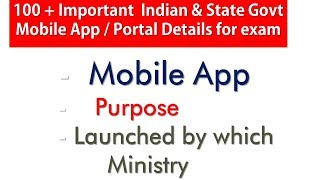 100+ mobile app central,state,bank & railway launched portal