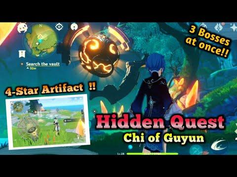 HIDDEN QUEST GUIDE!! Reward 4 star Artifact (Chi of Guyun) - Genshin Impact