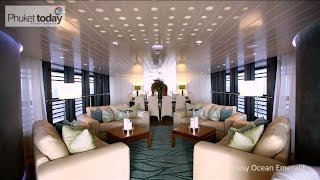 Inside Ocean Emerald - the poster child for superyacht charter in Thailand