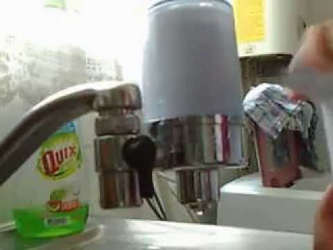 Como colocar filtro de agua para grifo de carb n - Filtros para grifos casa ...