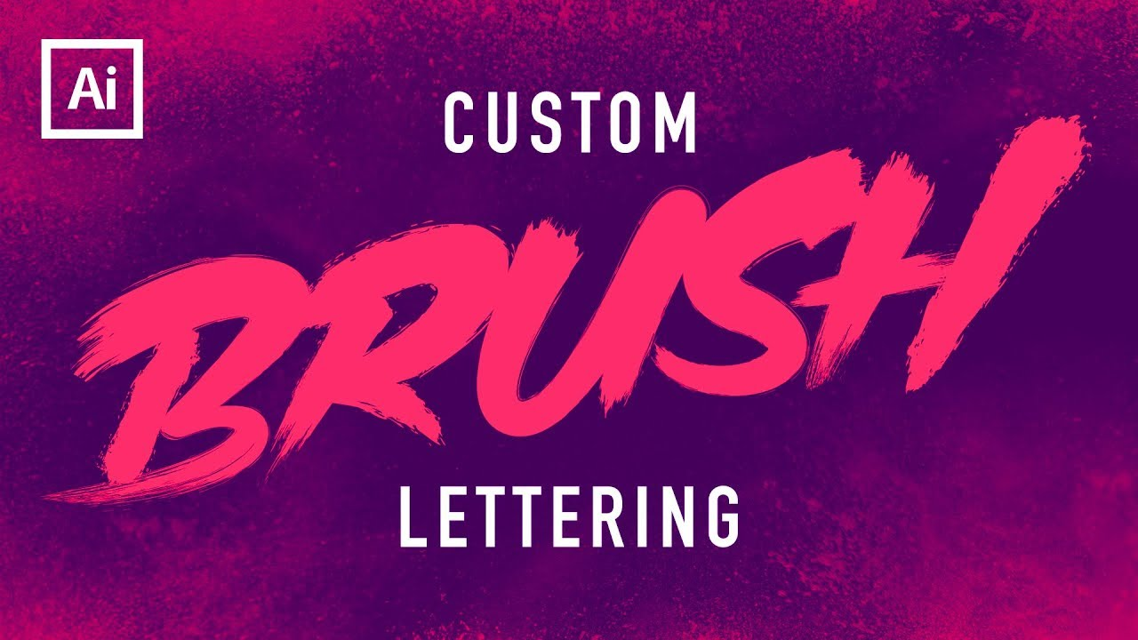 Dry brush text tutorial illustrator youtube