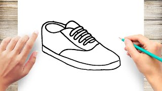 How to Draw a Shoe Step by Step for Kids