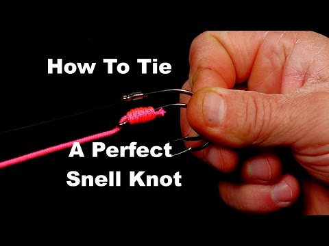 How To Tie A Snell Fishing Knot, Close Ups Using High Vis Cord | Saltwater Experience
