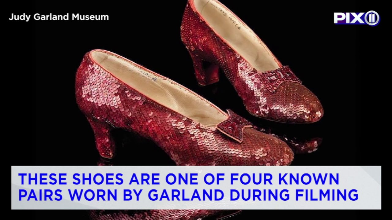 3ddaa16e7c1 Dorothy's ruby slippers have been found 13 years after they were stolen