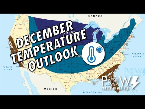December Temperature Outlook - POW Weather Channel