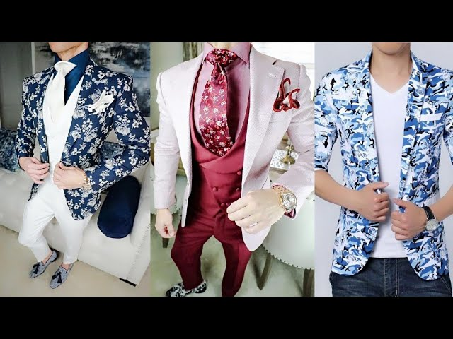 New style 3 piece suits for man//New design coat pant suits for boys//2019 new fashion collection