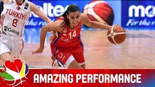 Ana Dabovic racks up 31 points v Turkey - EuroBasket Women 2015