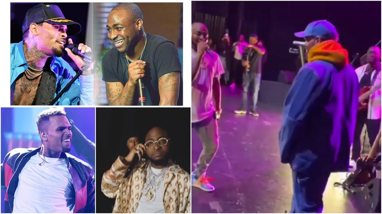 Davido & Chris Brown Scatter Stage With INCREDIBLE Performance In Los Angeles  
