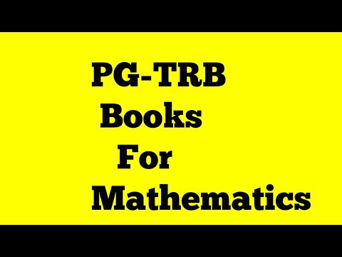 PG-TRB Books for Mathematics | Reference books for PG-TRB Mathematics  |best books Mathematics|