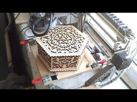 CNC 1610 LASER 5500 mw PLYWOOD BOX 3mm