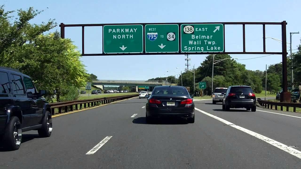 garden state parkway exit 98 northbound youtube
