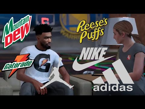 NBA 2K18| HOW TO GET MULTIPLE ENDORSEMENTS THORUGH MyCAREER (MOST VC)