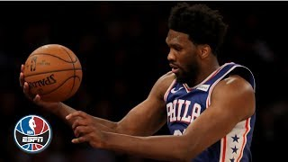 Joel Embiid posts double-double, leaps into the MSG crowd in 76ers' win vs. Knicks | NBA Highlights