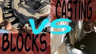 Air Crete House Blocks VS Casting