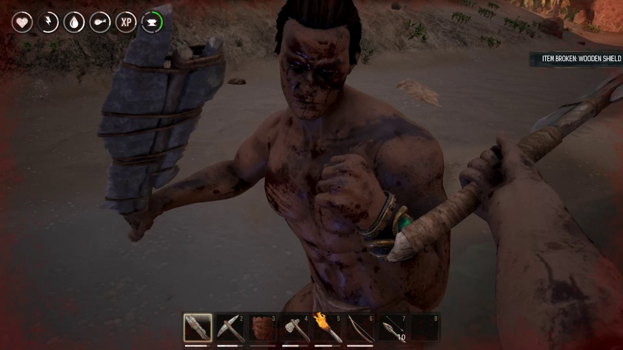 Conan Exiles Use Sword and Shield Against Enemies