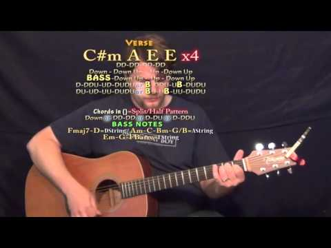 Roses (The Chainsmokers) Guitar Lesson Chord Chart in E Major - E A C#m