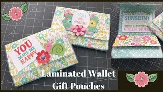 Laminated Wallet Gift Pouch