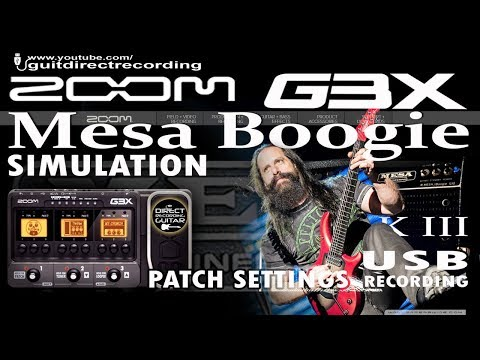ZOOM G3 DISTORTION Mesa Boogie Mark III Simulation JOHN PETRUCCI style.