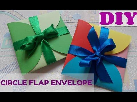 DIY gift idea: Super easy DIY circle envelope | Circle Envelope Card-Tutorial | Maison Zizou