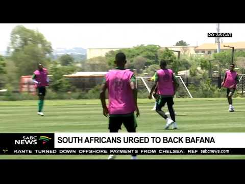 Baxter calls on supporters to come out during the Bafana game