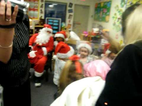 lia seeing santa at school