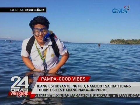 24 Oras: Ilang estudyante ng FEU, naglibot sa iba't ibang tourist sites habang naka-uniporme