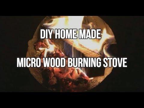 DIY Home Made MICRO Wood Burning Stove