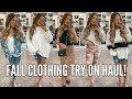 huge fall clothing haul amp try on casey holmes
