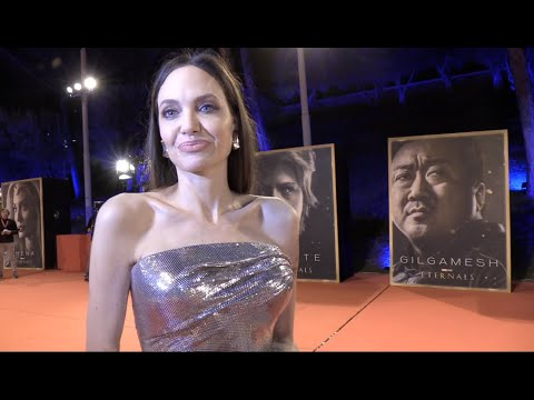 Download Angelina Jolie  interview on the red carpet for The Eternals at Rome Premiere