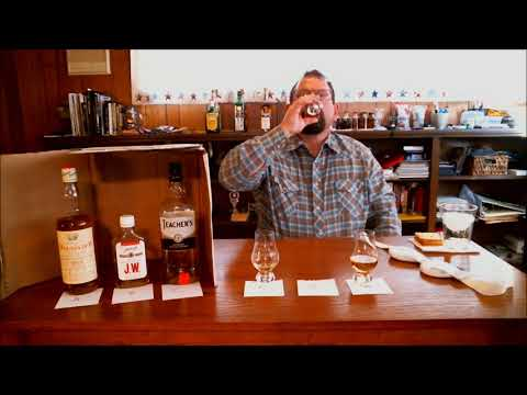 Inexpensive Blended Scotch Faceoff; Group 1, Round 1, Duggans Dew, J  W  Dant and Teachers