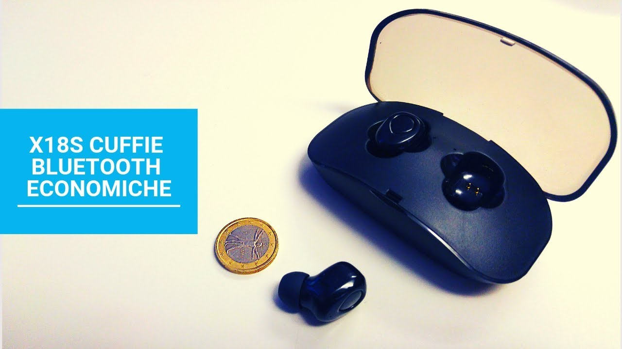 Cuffie Bluetooth Economiche X18S Wireless Earbuds - YouTube f5b043176ae0