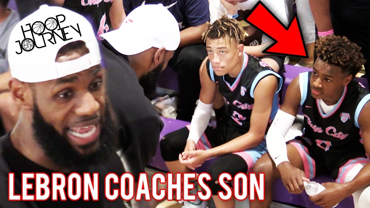6ab22238854 LeBron James COACHES Bronny Jr in CHAMPIONSHIP GAME! Balling On The ...