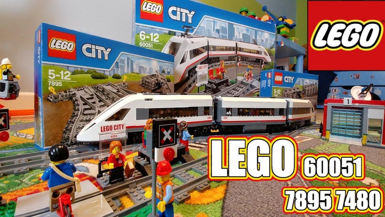 Lego Ultra Szybki Pociąg 60051 7895 7480 Mega Zabawa Youtube