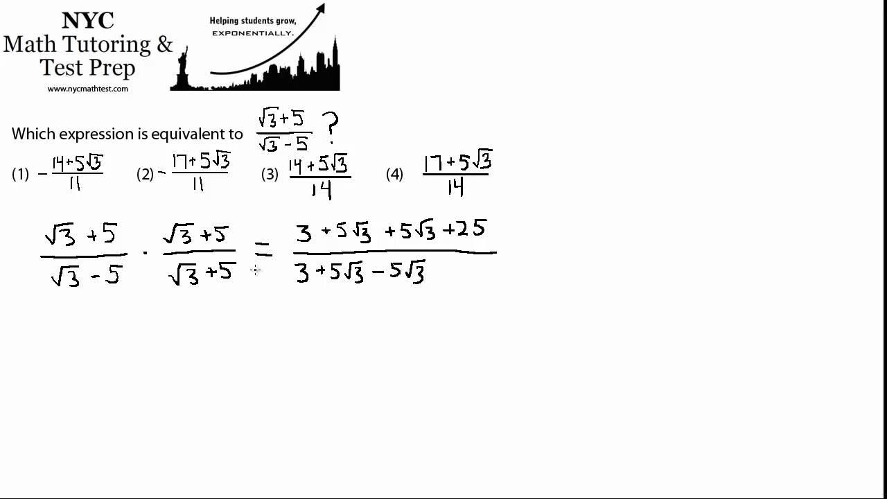 Conjugate Algebra 2 Trigonometry Nys Regents Exam